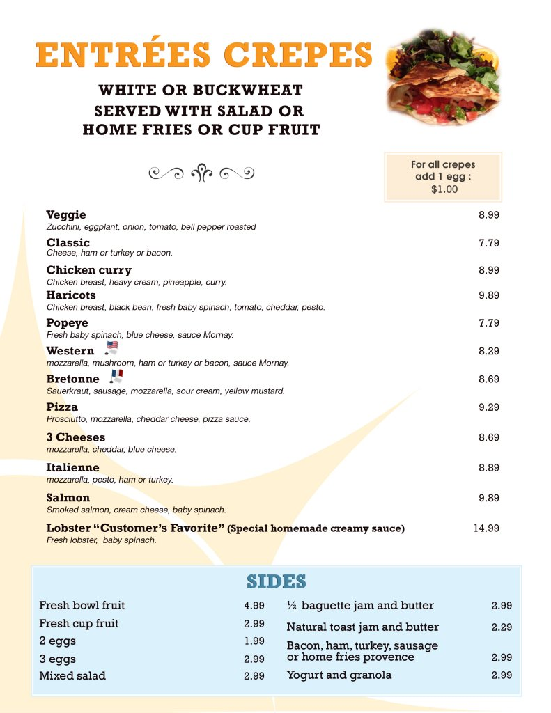 Cafe  Kosher Menu